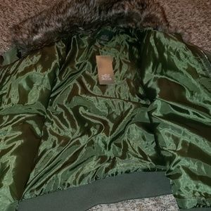 wild fable Jackets & Coats - wild fable coat green with fur collar xl